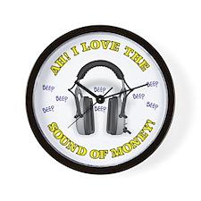 Headphones - Money! Wall Clock
