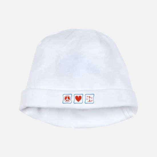 Peace, Love and Lawyers baby hat