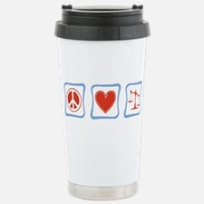Peace, Love and Lawyers Stainless Steel Travel Mug