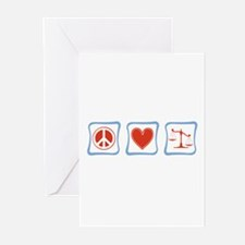 Peace, Love and Lawyers Greeting Cards (Pk of 20)