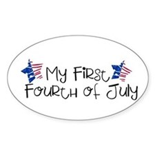 First Fourth of July Oval Decal