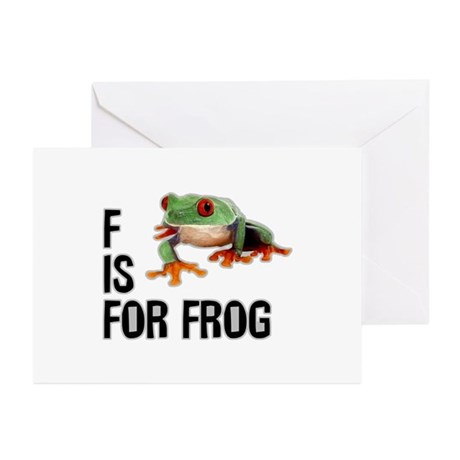 F Is For Frog Greeting Cards (Pk of 20)