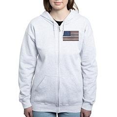 Stylish American Flag Zip Hoodie