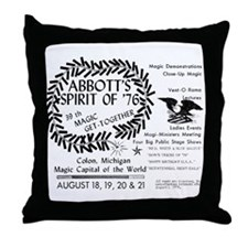 1976 Commemorative Throw Pillow