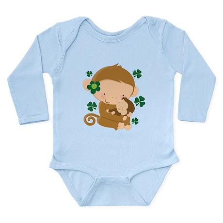 Irish Monkeys Shamrock Long Sleeve Infant Bodysuit