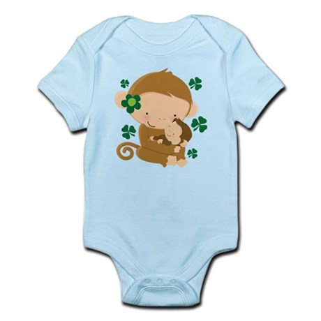 Irish Monkeys Shamrock Infant Bodysuit