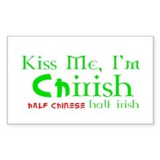 Kiss Me, I'm Chirish (Chinese/Irish) Hapa Decal