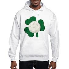 Irish Volleyball Shamrock Hoodie Sweatshirt