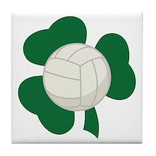 Irish Volleyball Shamrock Tile Coaster