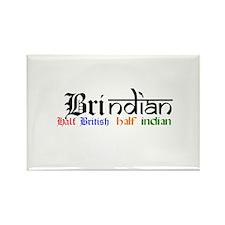 BrIndian (British/Indian) Hapa Rectangle Magnet