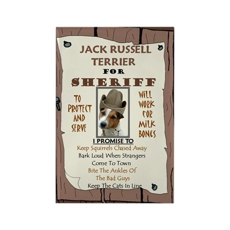 5-4-3-Sheriff -RecMag -JackRussell Magnets