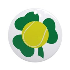 Irish Tennis Shamrock Ornament (Round)