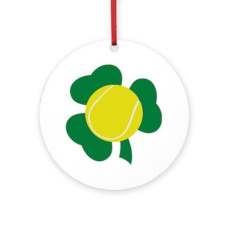 Irish Tennis Shamrock Ornament (Round)