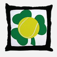 Irish Tennis Shamrock Throw Pillow