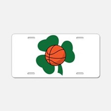 Irish Basketball Shamrock Aluminum License Plate