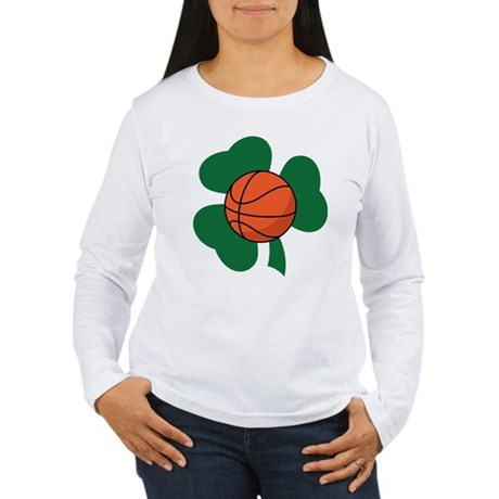 Irish Basketball Shamrock Women's Long Sleeve T-Sh