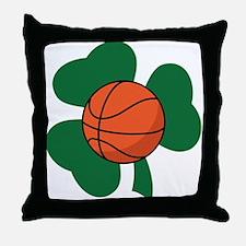 Irish Basketball Shamrock Throw Pillow