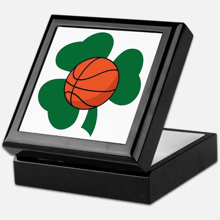 Irish Basketball Shamrock Keepsake Box