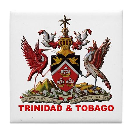 Trinidad Coat of Arms Tile Coaster