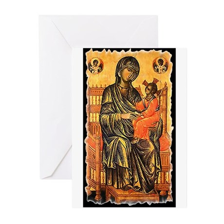 Byzantine Madonna Greeting Cards (Pk of 10)