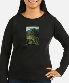 ornament_oval machu 2 Long Sleeve T-Shirt
