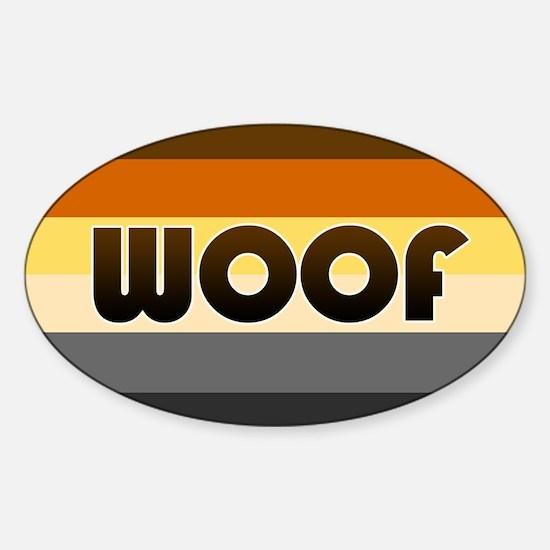 Bear 'Woof' Sticker (Oval)