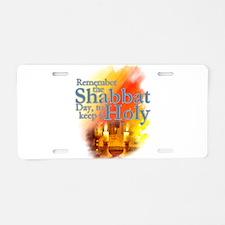 Shabbat Day: Aluminum License Plate