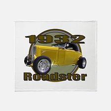 1932 Ford Roadster Banana Spl Throw Blanket