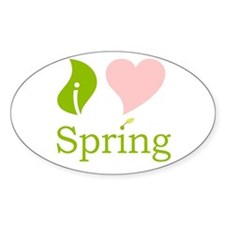 I Heart Spring (Pink) Oval Decal