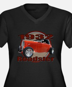 1932 Red Ford Roadster Women's Plus Size V-Neck Da