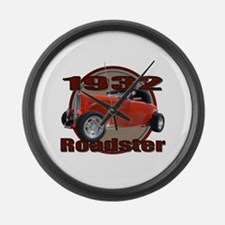 1932 Red Ford Roadster Large Wall Clock