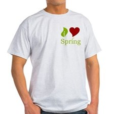 I Heart Spring (Red)  Ash Grey T-Shirt