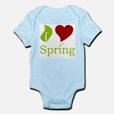 I Heart Spring (Red)  Infant Creeper