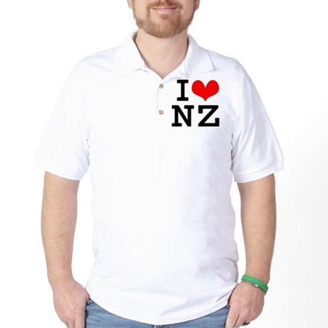 I Love NZ Golf Shirt