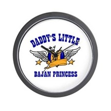 Daddy's Little Bajan Princess Wall Clock
