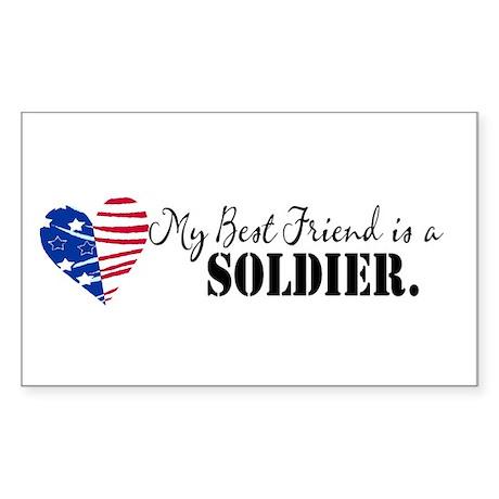 My Bestfriend is a Soldier Rectangle Sticker