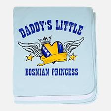 Daddy's Little Bosnian Princess baby blanket