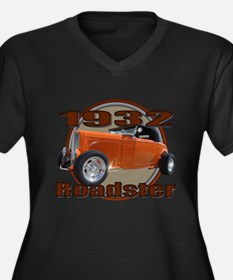 1932 Ford Roadster Orange Cra Women's Plus Size V-