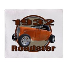 1932 Ford Roadster Orange Cra Throw Blanket