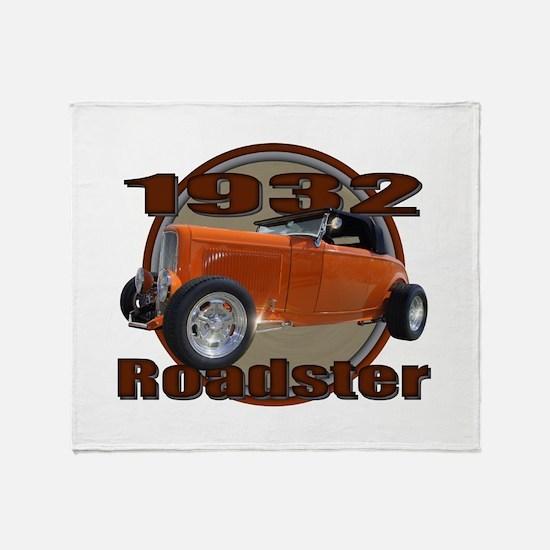 1932 Ford Roadster Orange Cra Throw Blanket
