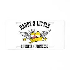 Daddy's Little Bruneian Princess Aluminum License