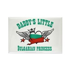 Daddy's Little Bulgarian Princess Rectangle Magnet