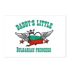 Daddy's Little Bulgarian Princess Postcards (Packa