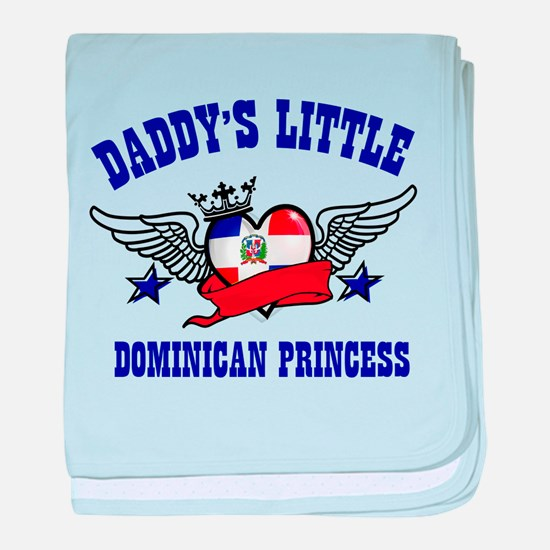 Daddy's Little Dominican Princess baby blanket