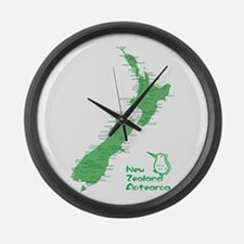 New Zealand Map Large Wall Clock