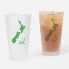 New Zealand Map Drinking Glass