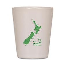 New Zealand Map Shot Glass