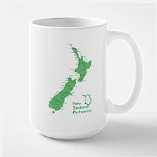 New Zealand Map Large Mug