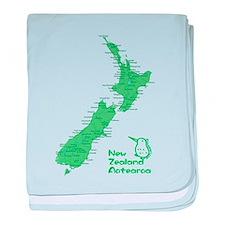 New Zealand Map baby blanket