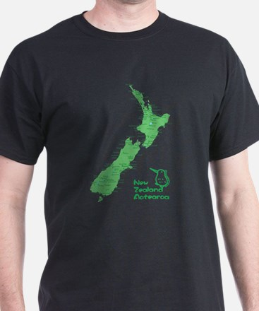New Zealand Map T-Shirt